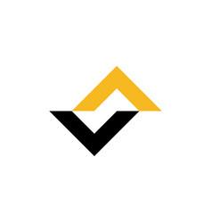 va initials logo abstract vector image