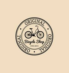Vintage hipster bicycle logo modern vector