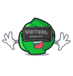 Virtual reality brussels mascot cartoon style vector
