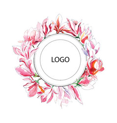 watercolor template for logotype vector image