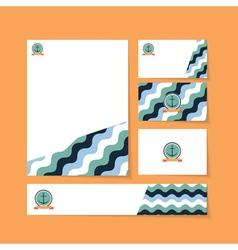 Waves anchor ribbon vector