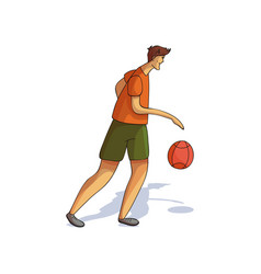 young tall man playing basketball athletic guy vector image