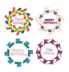 birthday logo design collection vector image vector image