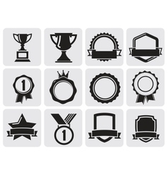 black award set vector image vector image