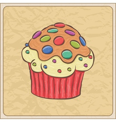 cupcakes06 vector image vector image