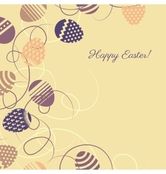 Easter multicolor eggs on yellow background vector image vector image