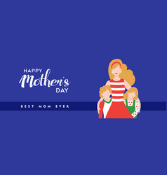 happy mothers day quote banner for best mom vector image