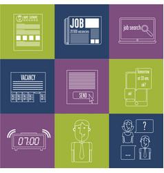 icons job vector image