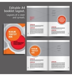 Modern abstract brochure report or flyer vector image