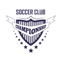 soccer club championship promotion monochrome vector image vector image