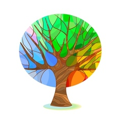 Stylized tree - four seasons vector image vector image