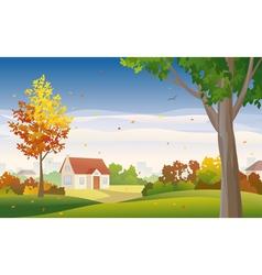 Autumn suburb vector image