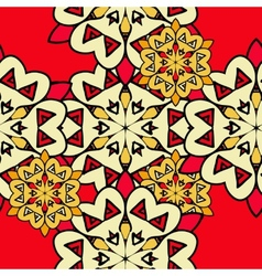 Colorful mandala seamless wallpaper Endless vector image vector image