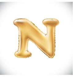 metallic gold n balloons golden letter new year vector image vector image