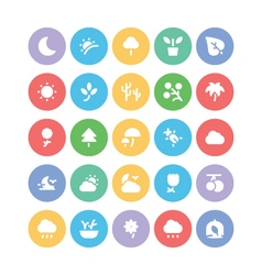 Nature Colored Icons 1 vector image vector image