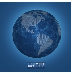 Network globe sphere earth map vector image