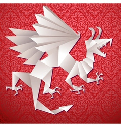paper dragon origami vector image