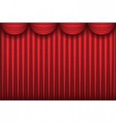 red curtain vector image