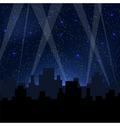 Starry Night Blue Sky vector image