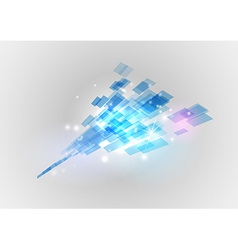 abstract background squares blue vector image