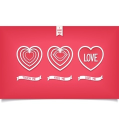 Design hearts icon with message love vector image