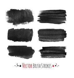 Hand drawn brush strokes vector image