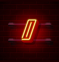 neon symbol slash sign city signboard vector image