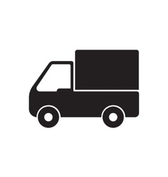 truck icon delivery vector image vector image