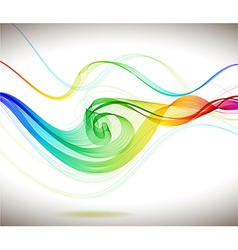 Abstract colorful background with wave vector image vector image