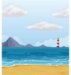 Light house beach vector image vector image