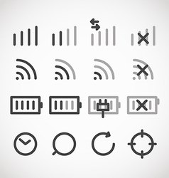 Modern gadget web icons collection vector image vector image