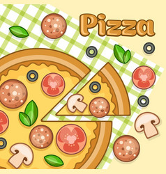 pizza poster vector image vector image