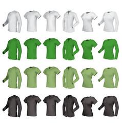 polo shirts and t-shirts set vector image
