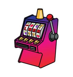 slot machine isolated on white vector image
