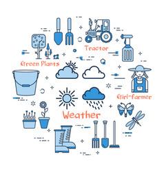 06 blue gardening - weather vector image