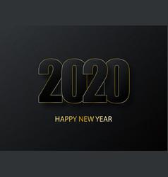 2020 happy new year background luxury dark vector image