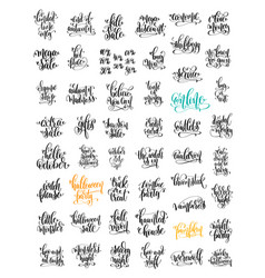 50 hand lettering inscription about autumn sale vector