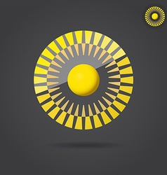Abstract golden circle vector