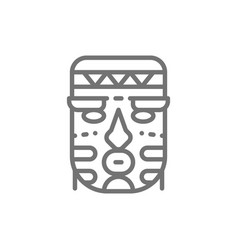 african ethnic tribal mask line icon vector image
