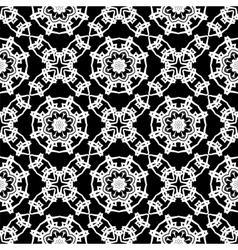 Black Ornamental Seamless Line Pattern vector
