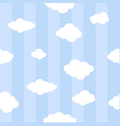blue lines with clouds seamless background vector image