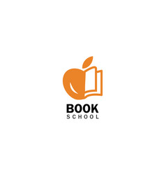 book school logo vector image