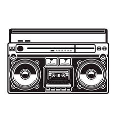 Boombox isolated on white background design vector
