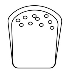 Bread icon outline style vector