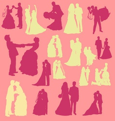 Bride and Groom Digital Clipart vector