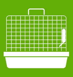 cage for birds icon green vector image vector image