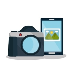 camera photography design vector image