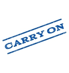 Carry On Watermark Stamp vector