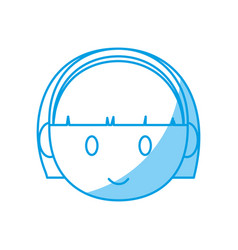 Cartoon girl face icon vector