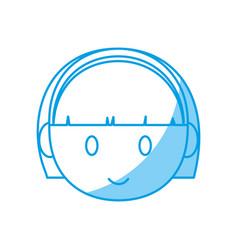 Cartoon girl face icon vector